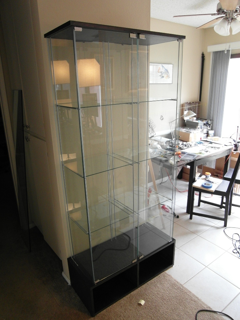 Ikea Perfekt Eckregal Weiss ~   gentlemen, the Double Wide Dual Modded DETOLF Glass Display Case